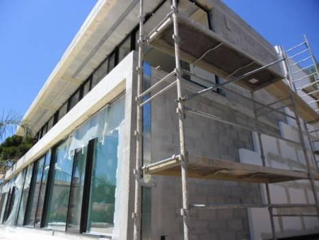 Isolation thermique par l'extérieur d'une villa contemporaine à Sanary sur Mer